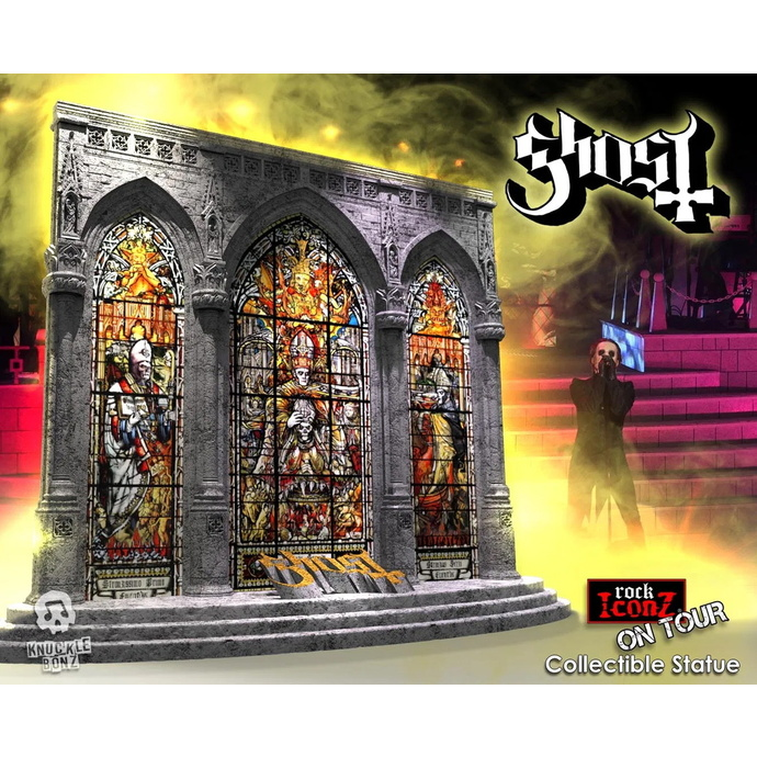 figurka skupiny KNUCKLEBONZ Ghost On Tour Series Collectible Statue  Diorama Stage