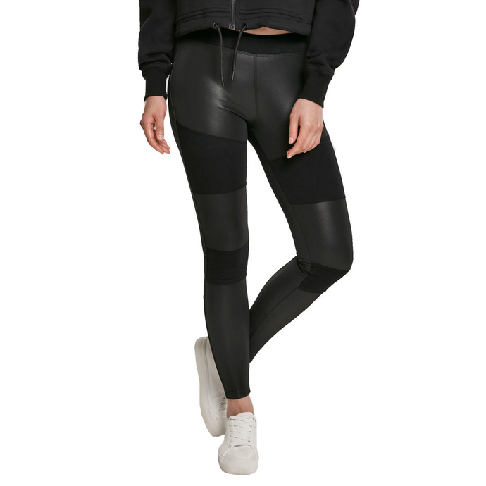 kalhoty plátěné URBAN CLASSICS Fake Leather Tech Leggings S