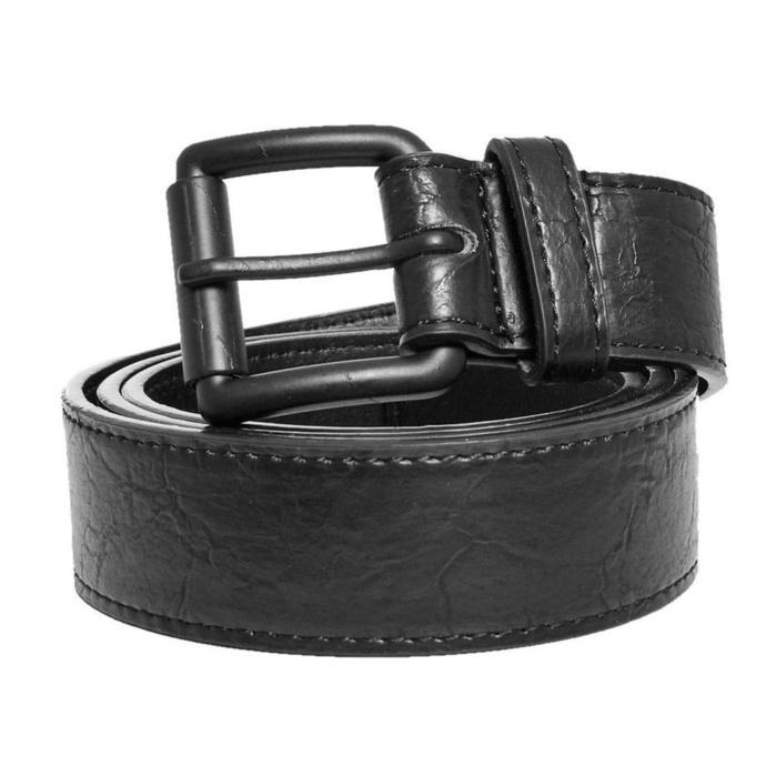 pásek URBAN CLASSICS - Marmorized PU Leather - blackblack - TB3910 SM