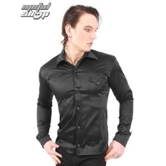 košile pánská Mode Wichtig - Motion Shirt Satin Black, MODE WICHTIG