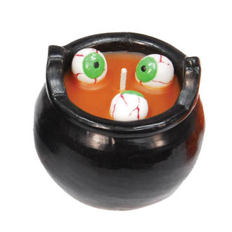 svíčka CAULDRON WITH EYES - Orange