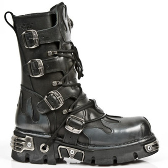 boty NEW ROCK - Flame Boots (591-S2) Black-Grey - N-8-05-700-08