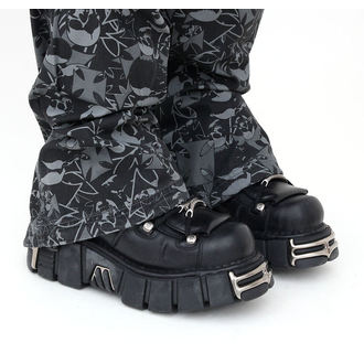 boty NEW ROCK - String Shoes (106-S1) Black, NEW ROCK