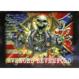 vlajka Avenged Sevenfold - Confederate, HEART ROCK, Avenged Sevenfold