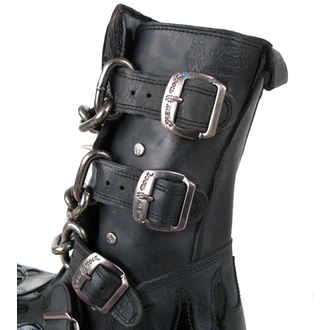 Boty New rock - Chain Boots (727-S1) Black