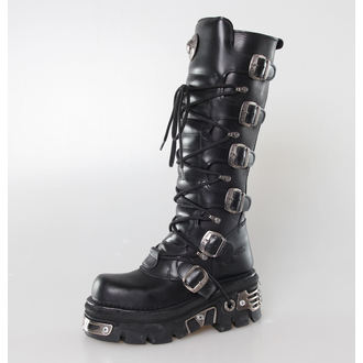 Boty New rock - 6-Buckle Boots (272-S1) Black