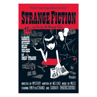 plakát EMILY THE STRANGE 'FICTION PULP COVER POSTER' PYRAMID POSTERS, EMILY THE STRANGE