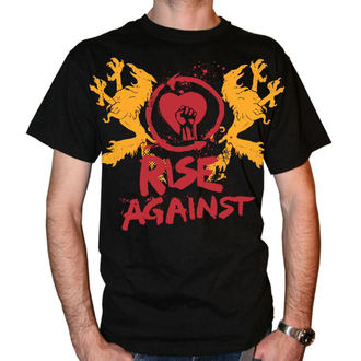 tričko pánské Rise Against - Fist Crest - Black - KINGS ROAD, KINGS ROAD, Rise Against