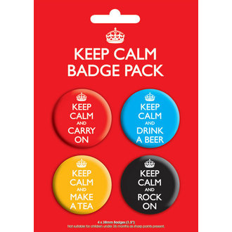 placky Keep Calm Badge - GB Posters - BP00199