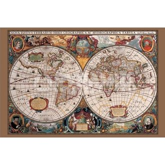 plakát 17th Century World Map - Pyramid Posters - PP31836