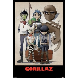 plakát Gorillaz - All Here - Pyramid Posters - PP32465