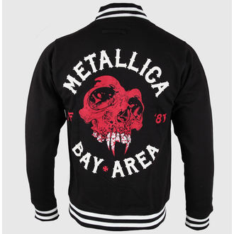 mikina pánská Metallica - Bay Area Skull - Black, ATMOSPHERE, Metallica