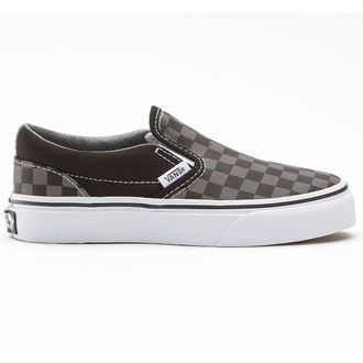 boty VANS - Classic Slip-on - Black/Pewter Checkerboard - VEYEBPJ