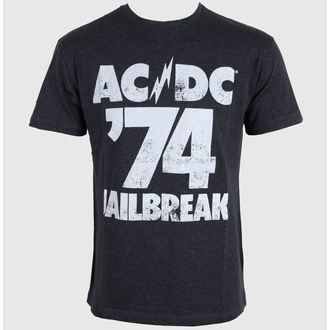 tričko pánské AMPLIFIED - AC/DC - Tour 74 Faded - Black - ZAV210A74