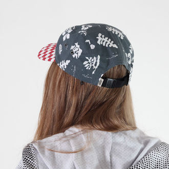 kšiltovka VANS - Davis 5 Panel Camper Hat - Red Check/Navy Aloha