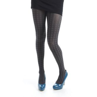 punčocháče PAMELA MANN - Opaque Dogtooth Tights - Grey - 043