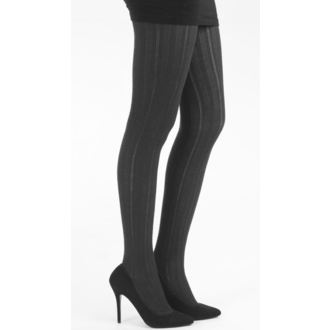 punčocháče PAMELA MANN - Pointelle Rib Tights - Black - 050