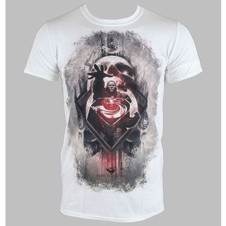 tričko pánské Man Of Steel - Zod Skull - White - LIVE NATION - 10774