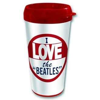 hrnek termo The Beatles - I love The Beatles - ROCK OFF, ROCK OFF, Beatles