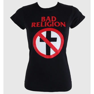 tričko dámské Bad Religion - Cross Buster - Black - KINGS ROAD - 00460