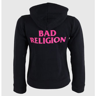 mikina dámská Bad Religion - Hot Pink - Black - KINGS ROAD, KINGS ROAD, Bad Religion