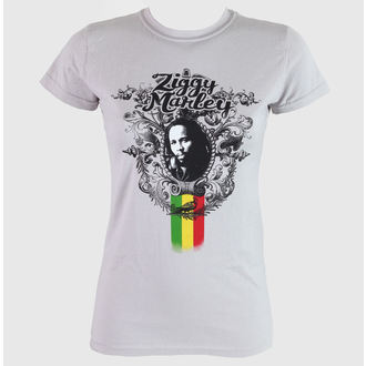tričko dámské Ziggy Marley - Peaceful - Grey - KINGSROAD, KINGS ROAD, Ziggy Marley