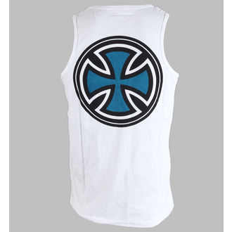 tílko pánské INDEPENDENT - PIN LINED CLASSIC CROSS VEST - WHITE