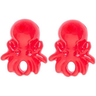 náušnice SOURPUSS - Octopus - Red - SPEA21