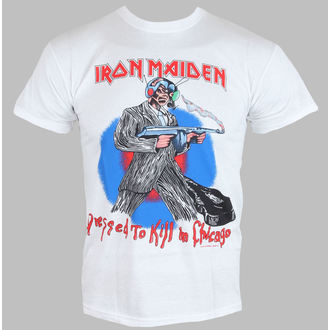 tričko pánské Iron Maiden - Chicago Mutants - White - ROCK OFF - IMTEE38