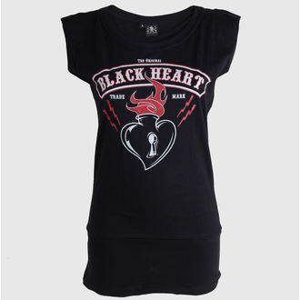 tričko dámské (Love Madness top) BLACK HEART - Flames - Black