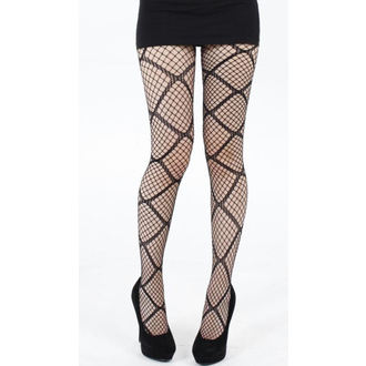 punčocháče PAMELA MANN - Large Diamond Net Tights - Black - PM110