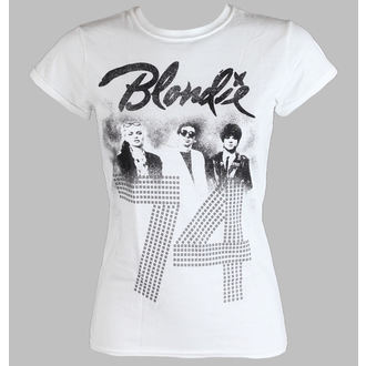tričko dámské BLONDIE - SINCE 74 Fitted - WHITE - LIVE NATION, LIVE NATION, Blondie