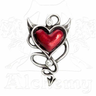 sponka do vlasů ALCHEMY GOTHIC - Devil Heart Hair Screw - ULFHSC1