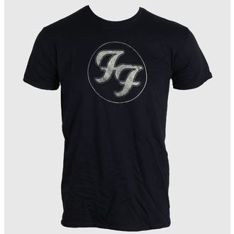 tričko pánské FOO FIGHTERS - LOGO IN GOLD CIRCLE - BLACK - LIVE NATION - PEFFI062
