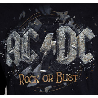 mikina pánská AC/DC - Rock Or Bust - Black - LIVE NATION, LIVE NATION, AC-DC