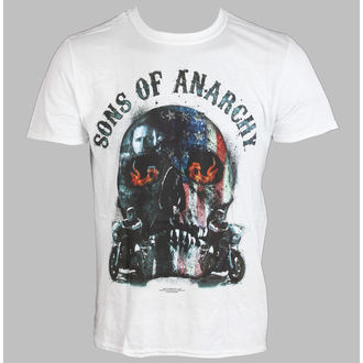 tričko pánské Sons Of Anarchy - Biker Skull - White - LIVE NATION - PE11067TSWP