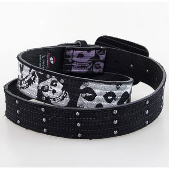 pásek Misfits - BIOWORLD - Black Leather - BT109173MIS4