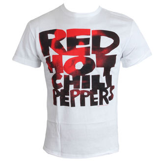 tričko pánské Red Hot Chilli Peppers - Type Face Fill - White - AMPLIFIED, AMPLIFIED, Red Hot Chili Peppers