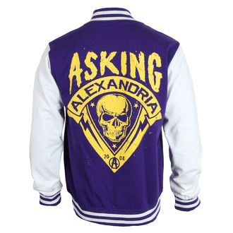 mikina pánská Asking Alexandria - Skull Shield - Purple - PLASTIC HEAD, PLASTIC HEAD, Asking Alexandria
