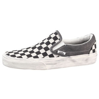 boty Vans - Classic Slip-On (Overwashed) - Black/Check - V18DGZM
