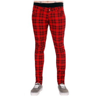 kalhoty (unisex) 3RDAND56th - Checked - Black/Red, 3RDAND56th