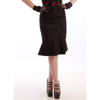 sukně dámská NECESSARY EVIL - Damara Retro Tulip - Black, NECESSARY EVIL