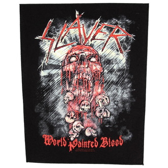 nášivka velká Slayer - World Painted Blood - RAZAMATAZ, RAZAMATAZ, Slayer
