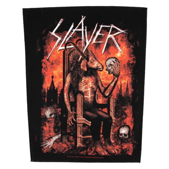 nášivka velká Slayer - Devil On Throne - RAZAMATAZ, RAZAMATAZ, Slayer