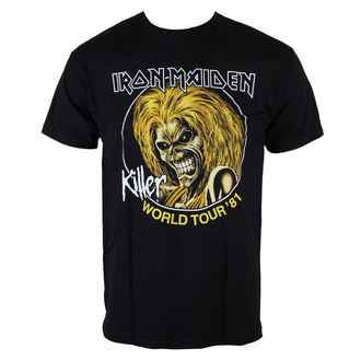 tričko pánské Iron Maiden - Killers World Tour 81 - Blk - ROCK OFF - IMTEE43MB