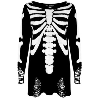 svetr (unisex) KILLSTAR - Skeletor - Black - KIL058
