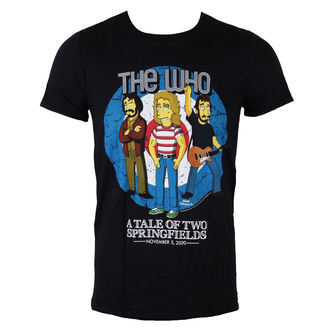 tričko pánské The Who - The Who Bullseye (Simpsons) - Black - LIVE NATION, LIVE NATION, Who