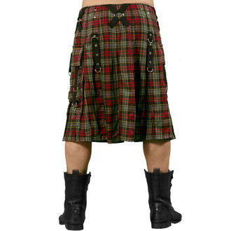 kilt pánský DEAD THREADS - Red/Grey - KC9382