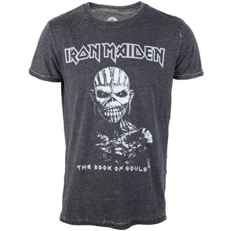 tričko pánské Iron Maiden - Book Of Souls - Burnout Grey - ROCK OFF - IMBOTEE52MG