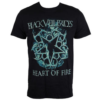 tričko pánské Black Veil Brides - Heart Of Fire - Black - LIVE NATION, LIVE NATION, Black Veil Brides